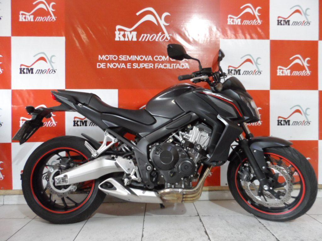 Honda CB 650 F Preta 2015